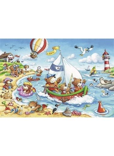 Ravensburger 2x24 Parça Puzzle Seaside Holiday 078295 Renkli